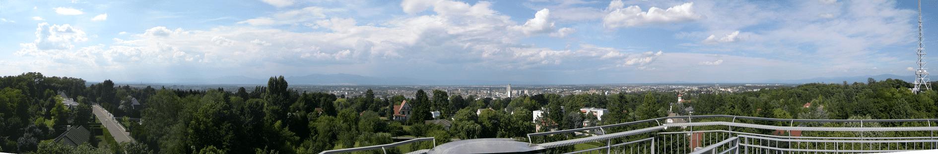 Vue panoramique du Rebberg. Belvédère Mulhouse